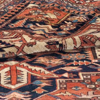 Heriz persiano antico cm 373x320