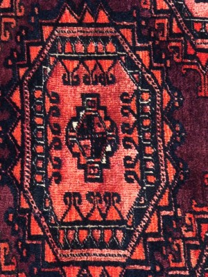 Saryk Chuval Turcomanno antico cm 182×102