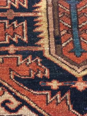 Heriz persiano antico  cm 373×320