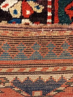 Kazak Bordjalou caucasico  antico cm 232×130